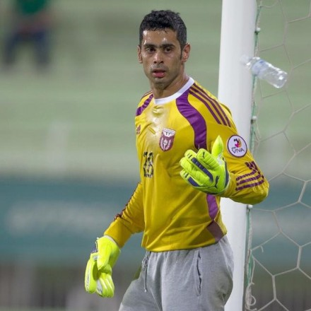 One goalkeeper from Kuwait also wears grey tracklower
