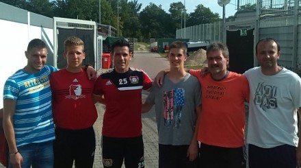 Three goalkeeper and two coach in Leverkusen